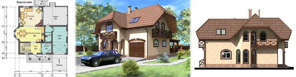 Проект дома ПД-042