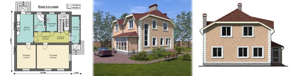Проект дома ПД-046